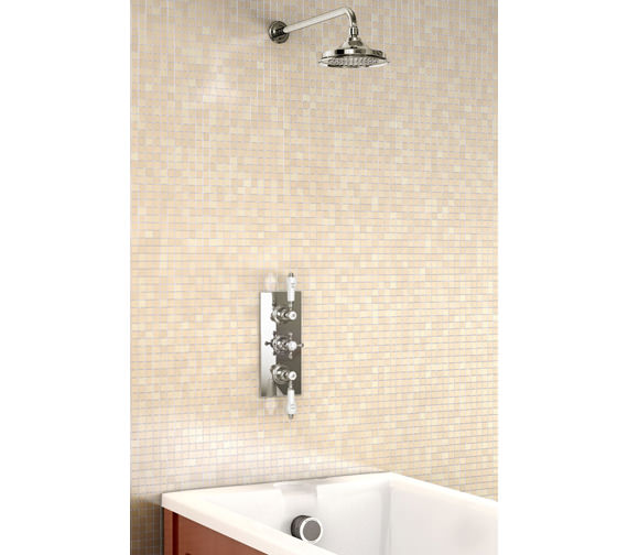 Burlington Clyde Concealed Thermostatic Valve With Straight Arm