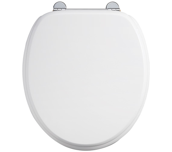 Burlington Gloss White WC Seat With Chrome Hinge - S13