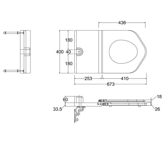 Technical drawing QS-V55956 / S15