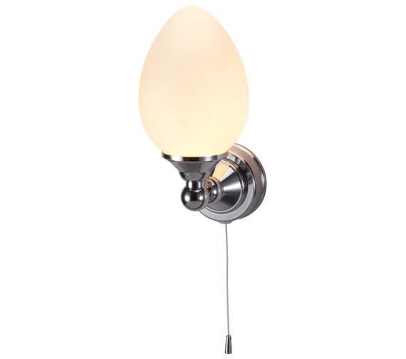 Burlington Edwardian Single Eliptical Light With Pull Cord - T52
