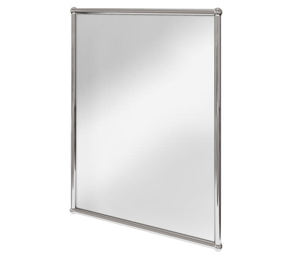 Burlington Rectangular Mirror With Chrome Frame - A11 CHR