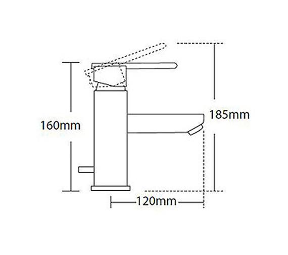 Technical drawing QS-V56252 / 45070