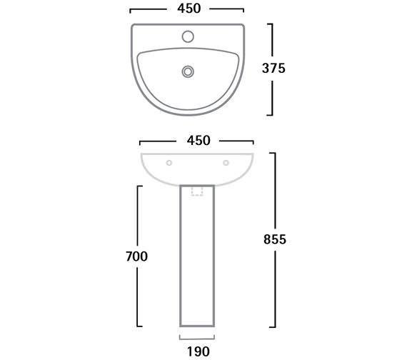 Technical drawing QS-V56305 / SB145S