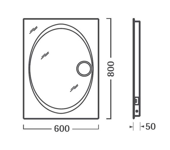 Technical drawing QS-V56335 / SBL16