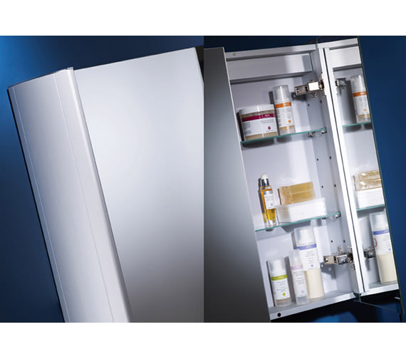 Tavistock Move Minimalist Single Mirror Door Aluminium Cabinet 482mm - MO48AL