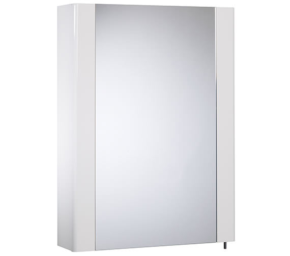 Tavistock Detail 475mm White Gloss Single Mirror Door Cabinet - DE47W