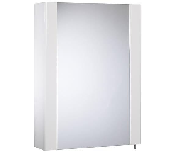 Tavistock Detail 475mm White Gloss Single Mirror Door Cabinet - DE47W