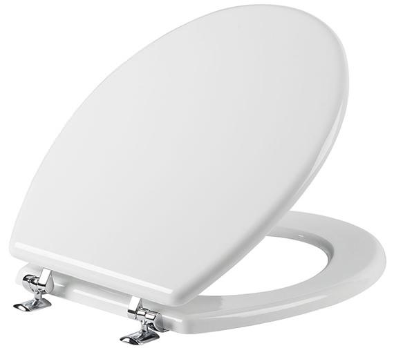 Tavistock Topaz Wood Toilet Seat White - O701T