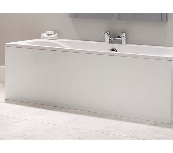Tavistock Meridian Plain White Front Bath Panel 1700 x 520mm - MPP3W