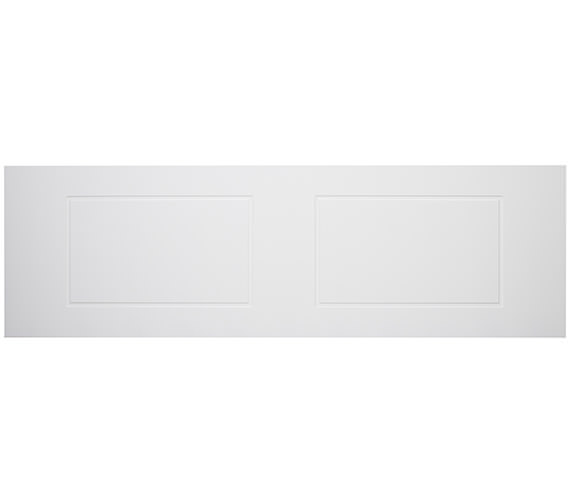 Tavistock Meridian Routed White Front Bath Panel 1700mm - MPR2W