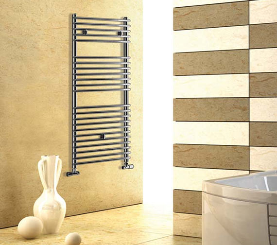 Alternate image of Essential Gemini Straight Chrome Towel Warmer 600 x 1090mm - 148264