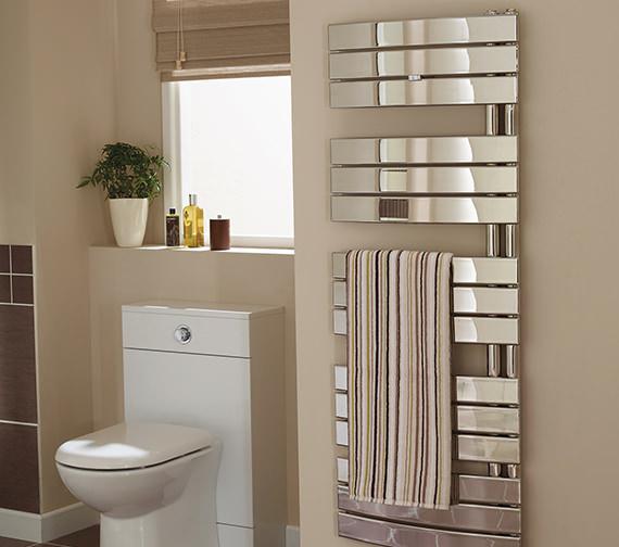 Essential Aries Flat Panels Chrome Towel Warmer 550 x 780mm - Designer Choice
