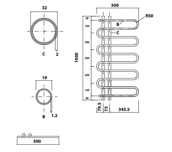 Technical drawing QS-V56445 / 148258