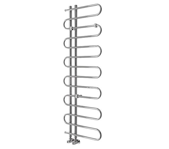 Essential Pisces Tube Chrome Towel Warmer 500 x 1400mm - 148259