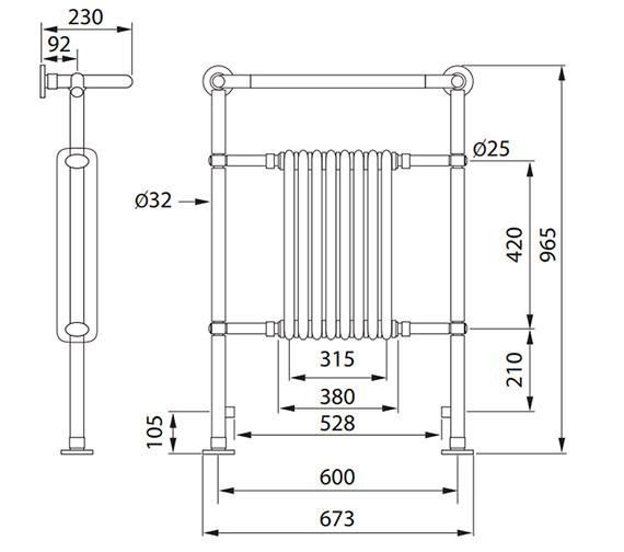 Technical drawing QS-V56450 / 148266