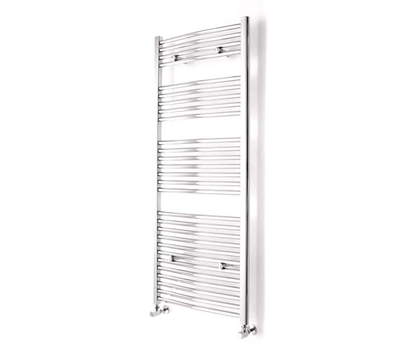 Essential Curved Chrome Towel Warmer 600 x 690mm - 148232