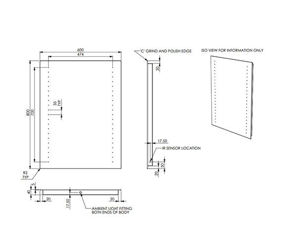 Technical drawing QS-V56495 / 100003