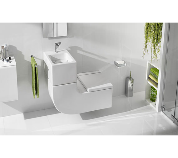 Roca w w wall hung vitreous china wc and basin for Roca bathroom fittings