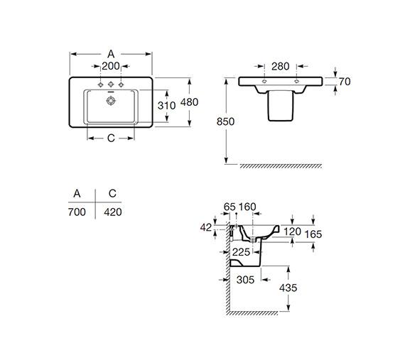 Technical drawing QS-V56672 / 327651000