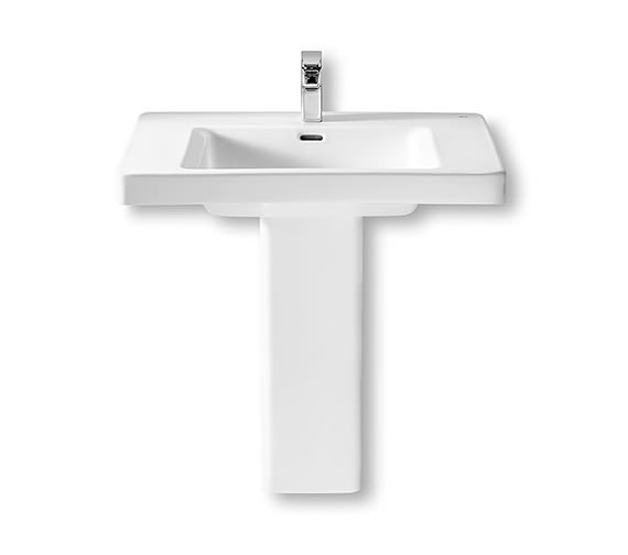 Additional image of Roca Khroma Wall Hung Basin With Fixing Kit 700mm Wide - 327651000