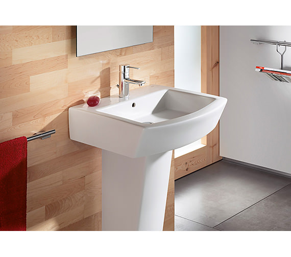 Additional image of Roca Hall Wall Mounted Basin With 1 Tap Hole - 327621000