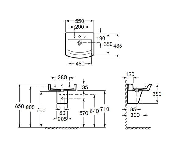 Technical drawing QS-V56700 / 327881000