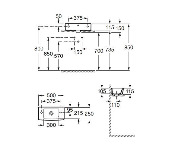 Technical drawing QS-V56705 / 325883000