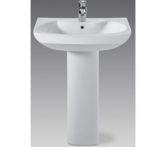 Additional image of Roca Senso Wall Hung Basin 650mm Wide With 1 Tap Hole - 327511000
