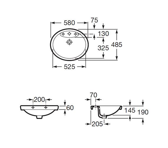 Technical drawing QS-V56716 / 327515000