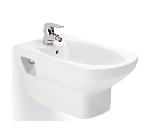 Roca Senso Wall Hung Bidet With One Tap Hole 570mm - 357515000