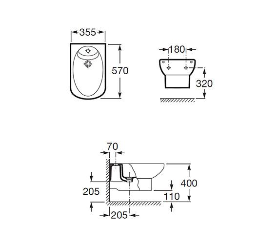Technical drawing QS-V56721 / 357515000