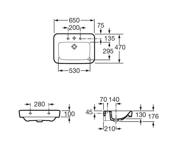 Technical drawing QS-V56725 / 32751A000