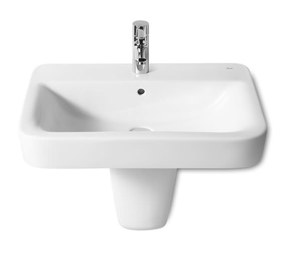 Additional image of Roca Senso Square 1 Tap Hole Basin 650 x 475mm - 32751A000