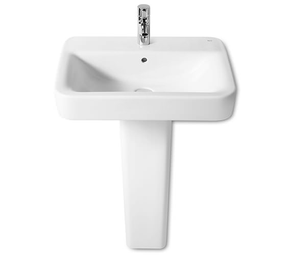 Additional image of Roca Senso Square Wall-Hung Basin With 1 Tap Hole