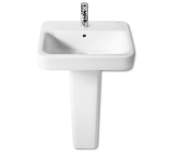 Roca Senso Square Wall-Hung Basin With 1 Tap Hole