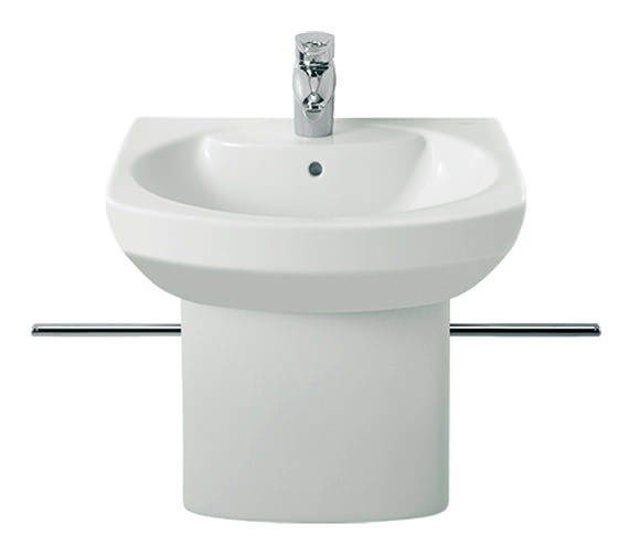Roca Senso Compact Wall Hung Basin 550mm With One Tap Hole - 325513000