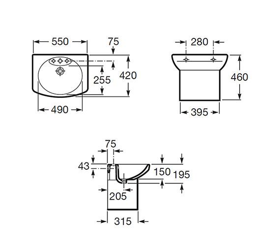 Technical drawing QS-V56731 / 325513000