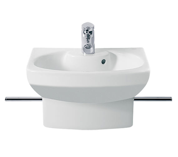 Roca Senso Compact Cloakroom Basin With Semi-Pedestal - 327514000