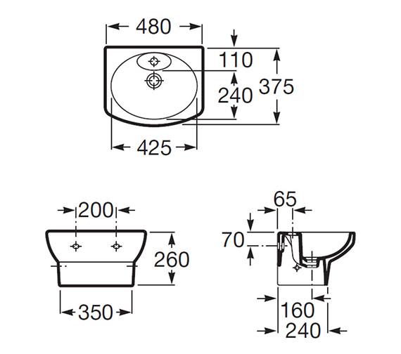 Technical drawing QS-V56732 / 327514000