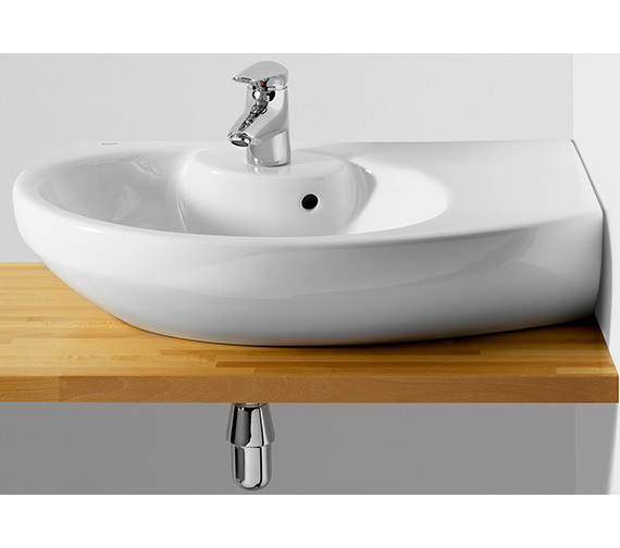 Roca Senso Compact Corner Right Hand Basin 680mm Wide - 327519000