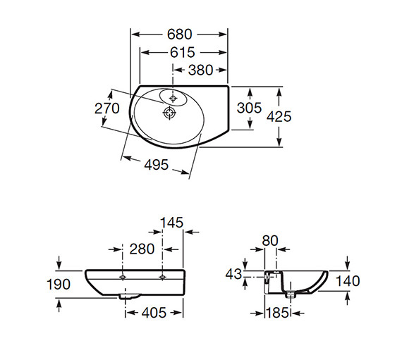 Technical drawing QS-V56733 / 327519000