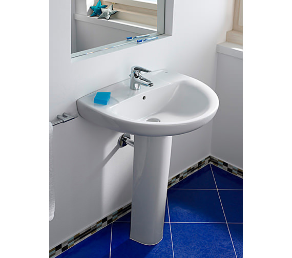 Additional image of Roca Laura 1 Tap Hole Wall Hung Basin 520mm Wide - 325394000