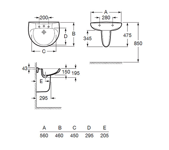Technical drawing QS-V56769 / 328396000