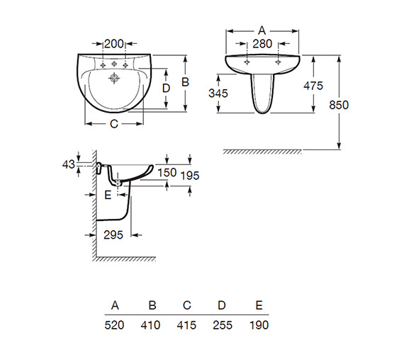 Technical drawing QS-V56770 / 325394000