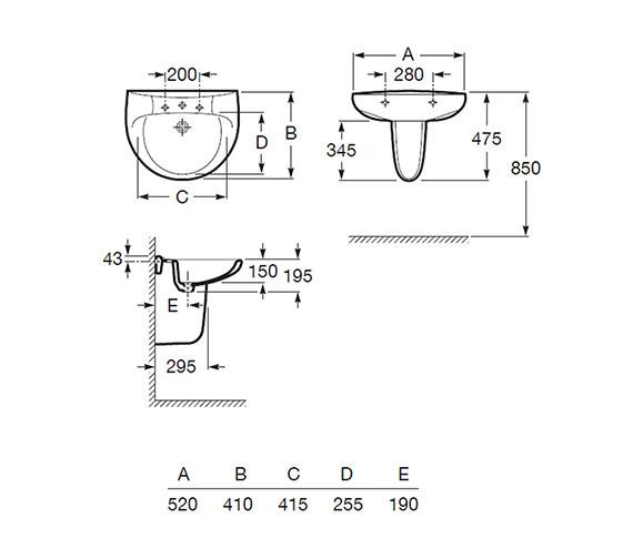 Technical drawing QS-V56771 / 328398000