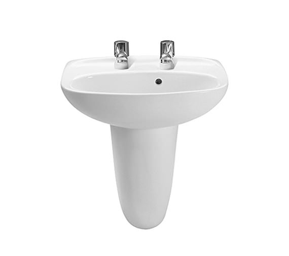 Roca Laura 2 Tap Holes Cloakroom Basin 450mm Wide - 325315000