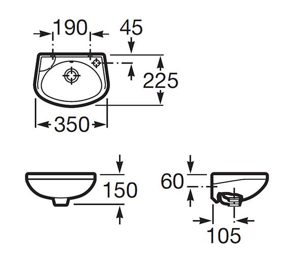 Technical drawing QS-V56783 / 325316005