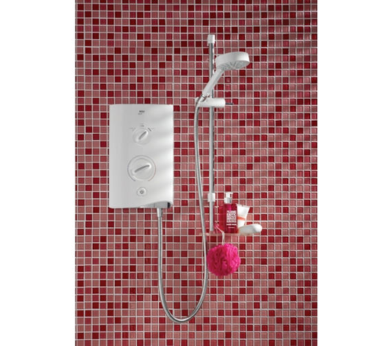 Mira Sport Electric Shower 10.8kW White And Chrome - 1.1746.004