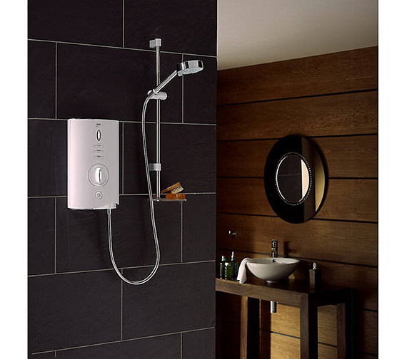 Mira Sport Max Electric Shower 10.8kW With Air Boost - White And Chrome - 1.1746.008