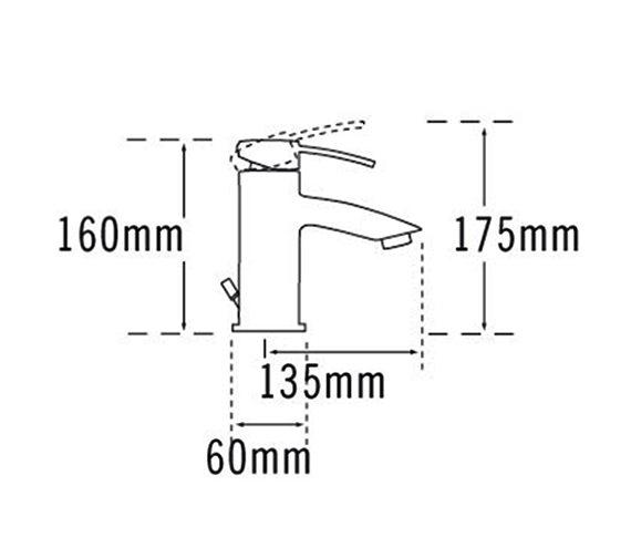 Technical drawing QS-V57044 / 42070